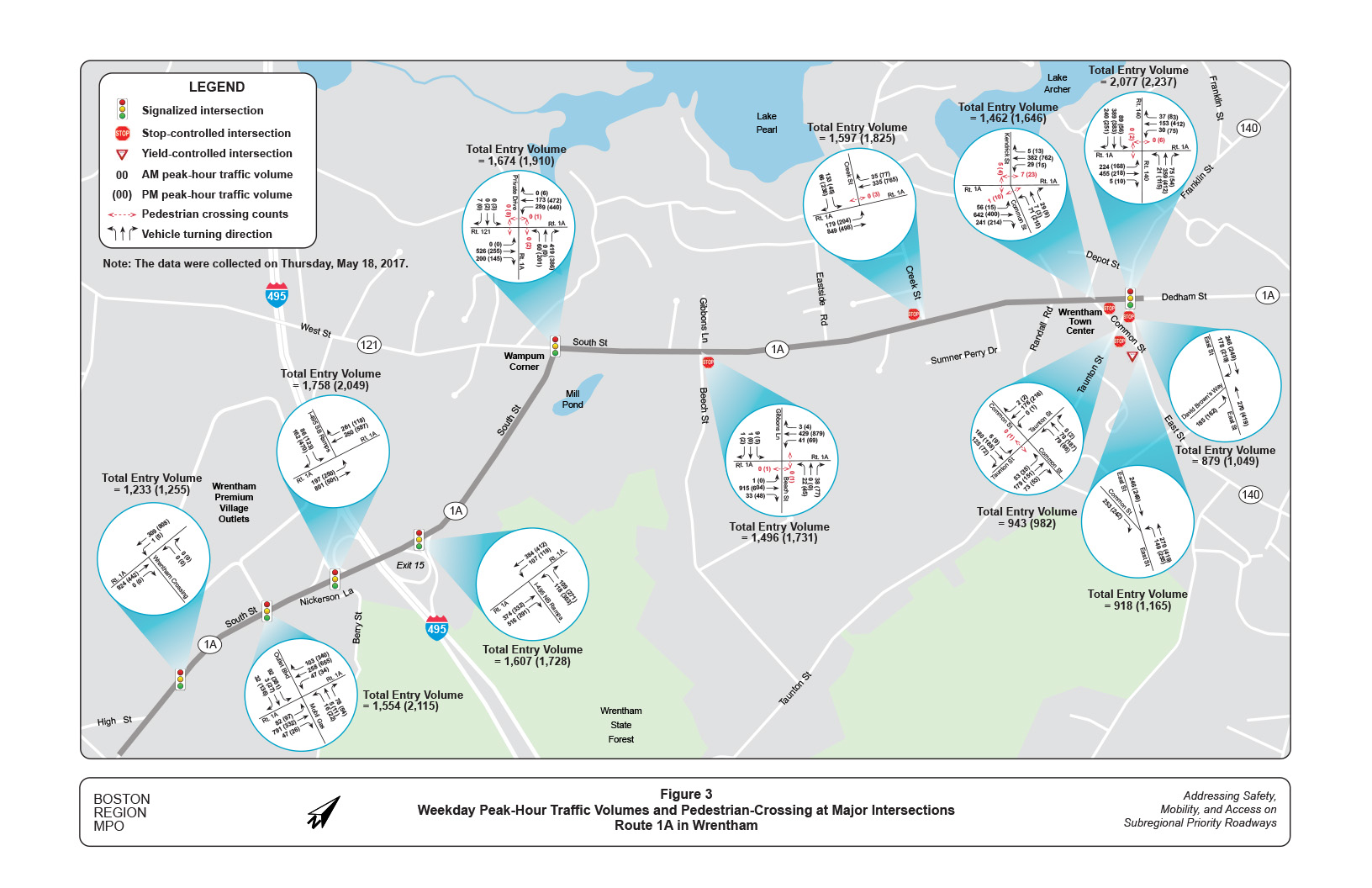 Diagrams Of 2 Lane Intersections Electrical Wiring Diagram Intersection Route 1a Corridor Study In Wrentham Driving Left Turn 4 Way